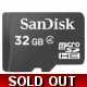 32GB Sandisk Micro SDHC Class 4 Memory Card for ..